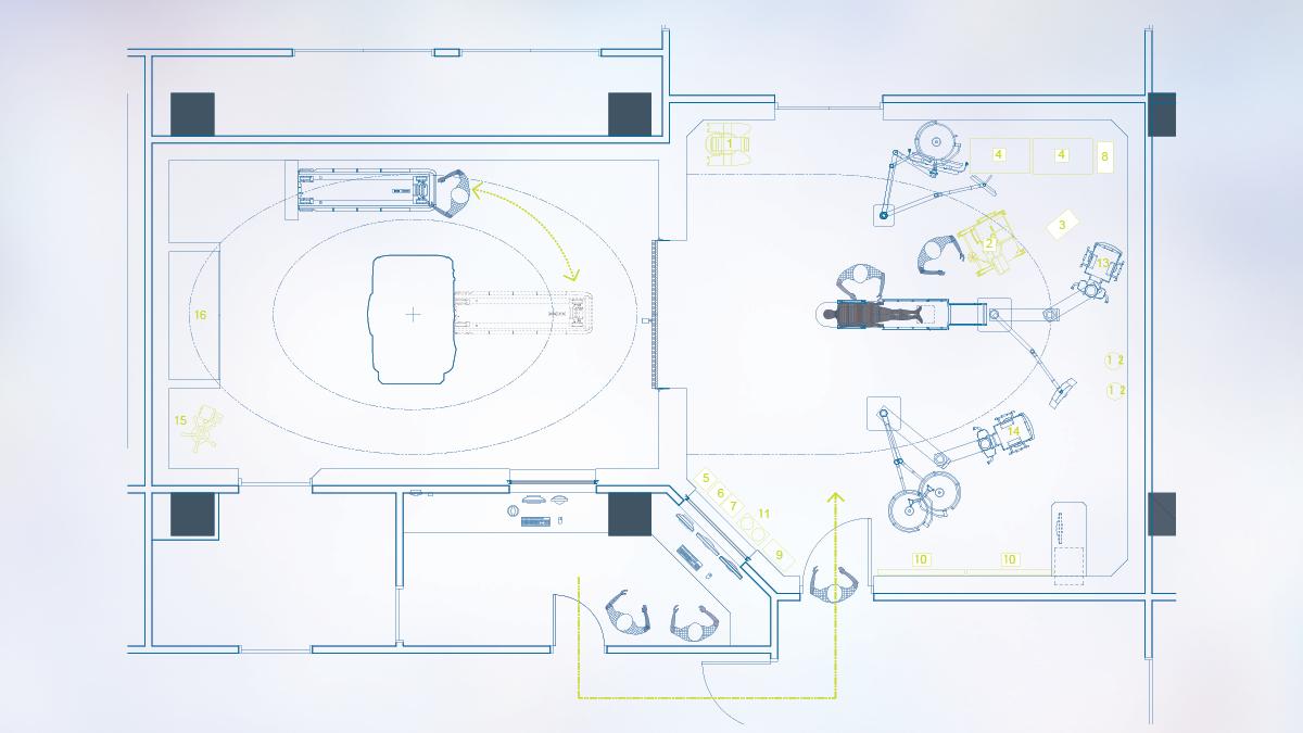 Surgeon workflow drawing
